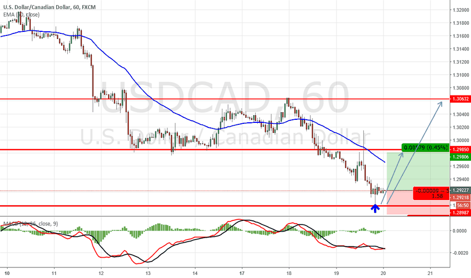 USDCAD: Buying USDCAD at Support