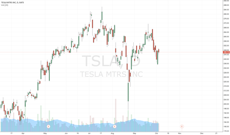 TSLA: Looks poised for a move in either direction