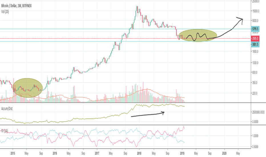 BTCUSD: Just some long term thoughts on BTC/USD - Bullish