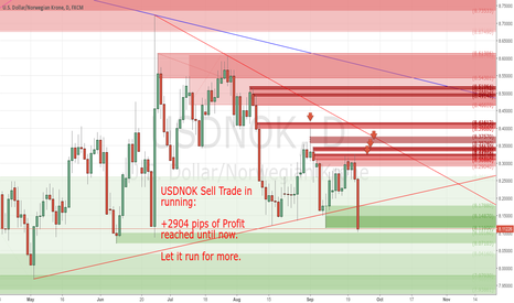 USDNOK: +2904 pips of profit reached until now with my Sell Trade