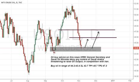 USOIL: Oil buy on OPEC update about rumors of Saudi Arabia