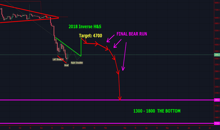 BTCUSD: This is how I think Bitcoin will finnaly bottom in 2019