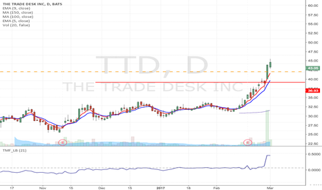 TTD: TTD - Flag formation Momentum trade from $40.13