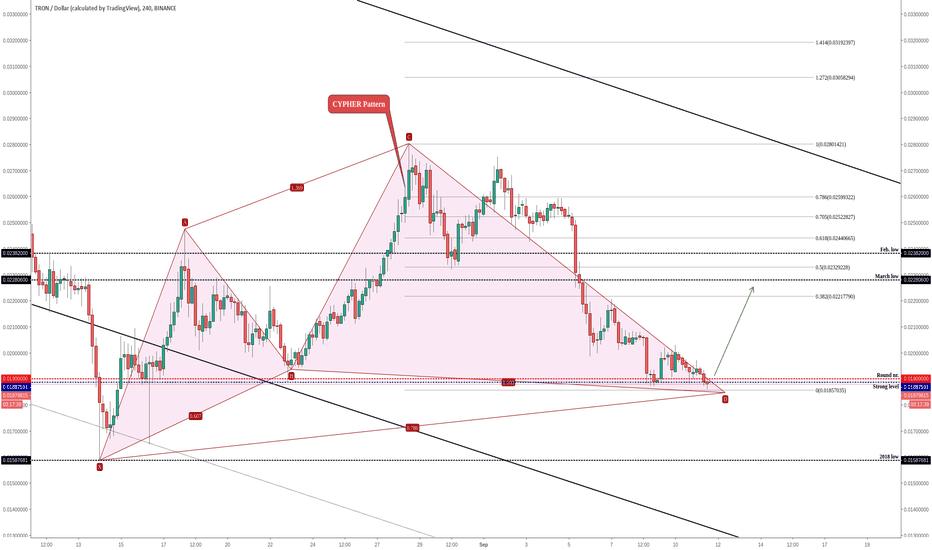 TRXUSD: TRON (TRX/USD) Completing a Pattern On The Strong Area!