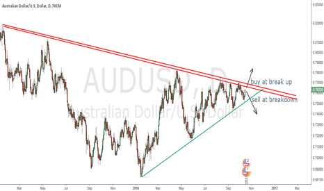AUDUSD: AUDUSD at a critical junction