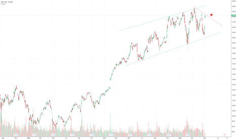 AAPL: Apple in a rising trend channel.