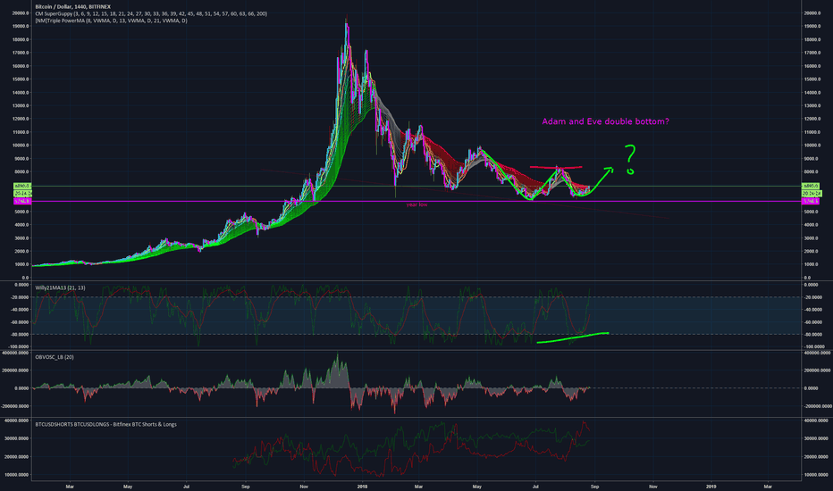 BTCUSD: Adam and Eve Double Bottom? I think it is!!!