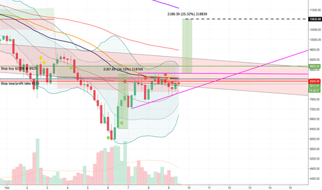 BTCUSD: Possible bullish pennant?