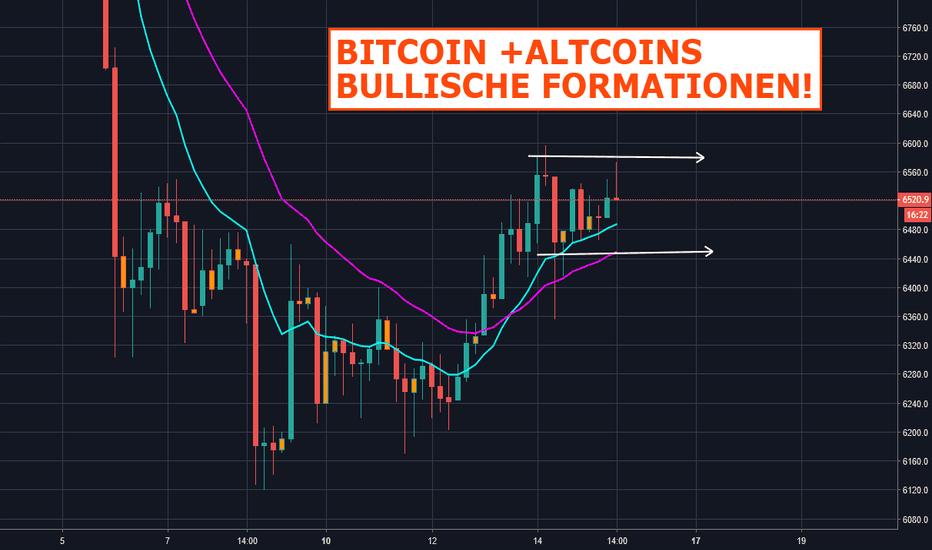 BTCUSD: Bitcoin + Altcoins zeigen bullische Formationen!