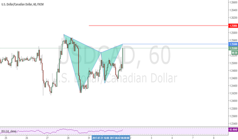 USDCAD: Possible Gartley Pattern