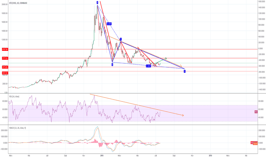 BTCUSD: Evolution BTC long terme , a quand la fin du bearish ?