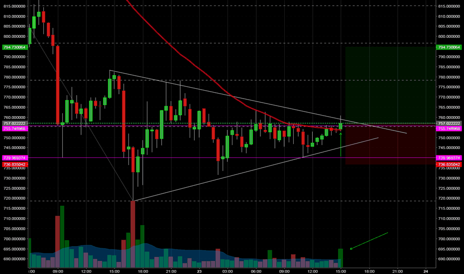 BCCUSD: Bitcoin Cash Long on 30 min Candle close over 50ma