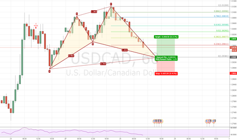 USDCAD: cypher 1h long USDCAD
