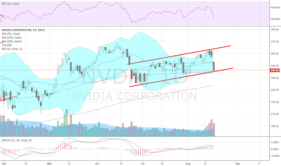 NVDA: $NVDA holding at the bottom of rising channel for now...