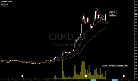 CRMD: Cormedix (CRMD) Bullish Falling Wedge