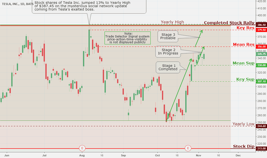 TSLA: Tesla Inc., Daily Chart Analysis  11/6