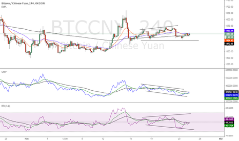 BTCCNY: Divergence on obv/price and rsi/price (BEAR)