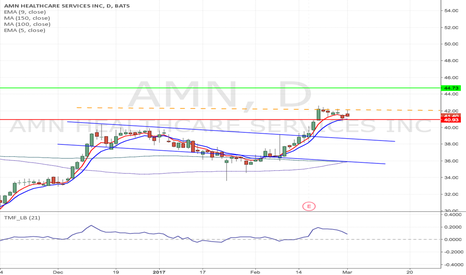 AMN: AMN - Flag formation Long from $42.13 to $44.73 & higher