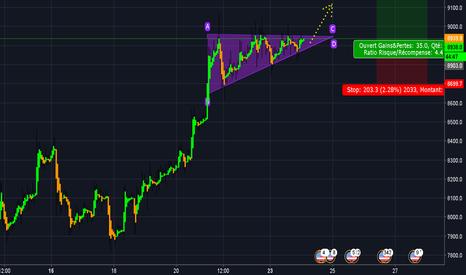 BTCUSD: Triangle ascendant ! ! ! Objectif 9800 ? ? ?