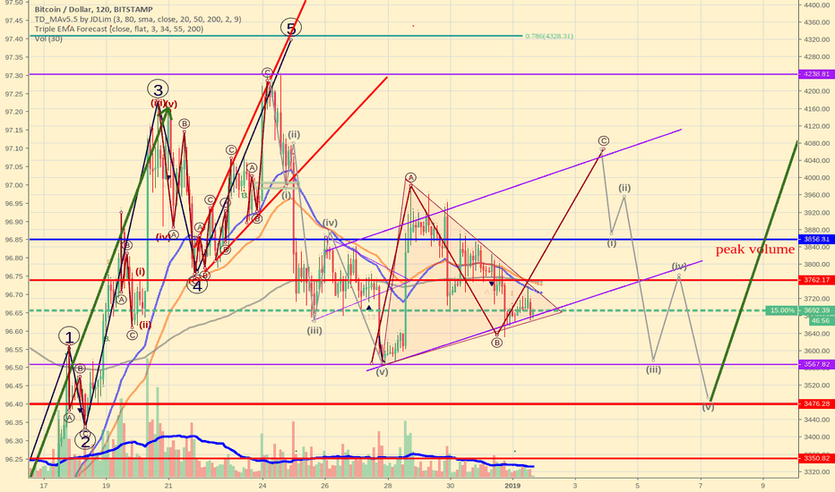 BTCUSD: New Year Bitcoin Elliott wave scenario