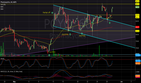 PCYC: Bull Flag Breakout and retest