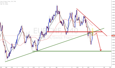 EURCHF: EURCHF Possible short opportunities in the coming week