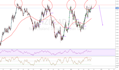 NZDCAD: 4 Touches = Rejection