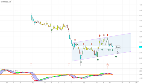 TWTR: Full day below the black line of support and you can open a shor