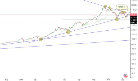 BTCUSD: BTC USD 로그눈금으로 본 하락관점.