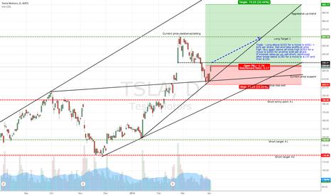 TSLA: $TSLA long and short trade ranges