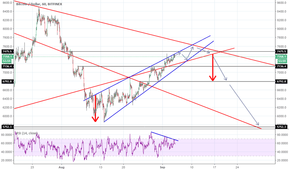BTCUSD: BTC forming a rising wedge and what does it mean