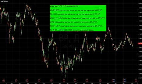 BP: BP и т.д. покупки и продажи на 13.07.17 (дополнение 2)