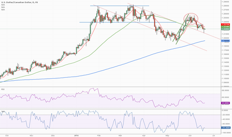 USDCAD: USDCAD Finding Support on Falling TL