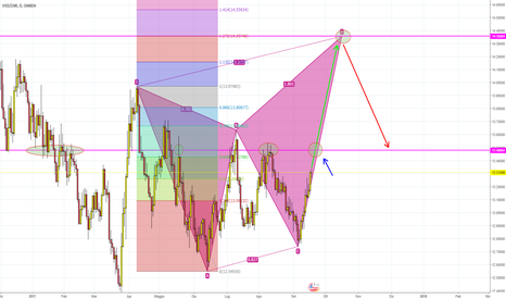USDZAR: USD/ZAR BEARISH BUTTERFLY D1