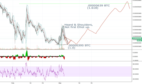 TRXBTC: TRON/TRX Head and Shoulders, NOT the First Elliot Up!