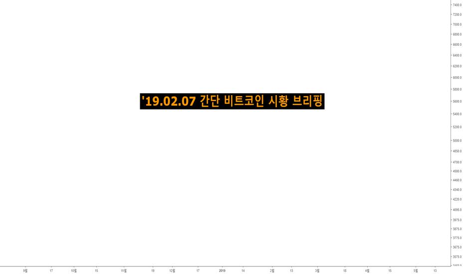 BTCUSD: '19.02.07 간단 비트코인 시황 브리핑