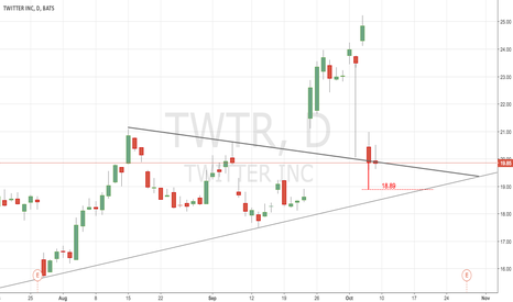 TWTR: I wait 18.89 to valuate new long position