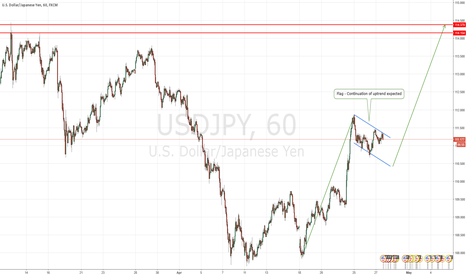 USDJPY: USDJPY flag formation - Prepare to go long