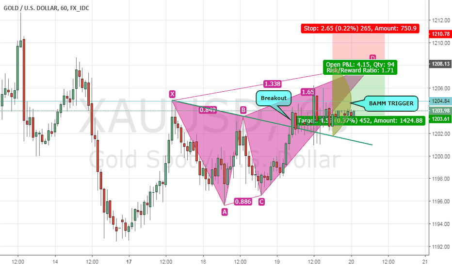 XAUUSD: GOLD Potentially Forming a Butterfly Pattern