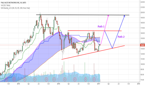 PANW: Pennant forming POSSIBLE Two Path