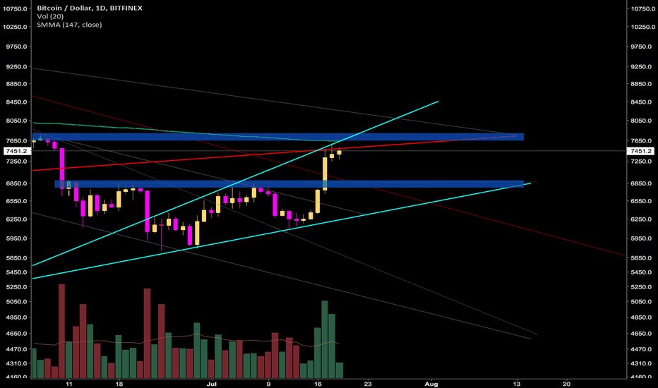 BTCUSD: Asending Widening Wedge and 6 month SMA