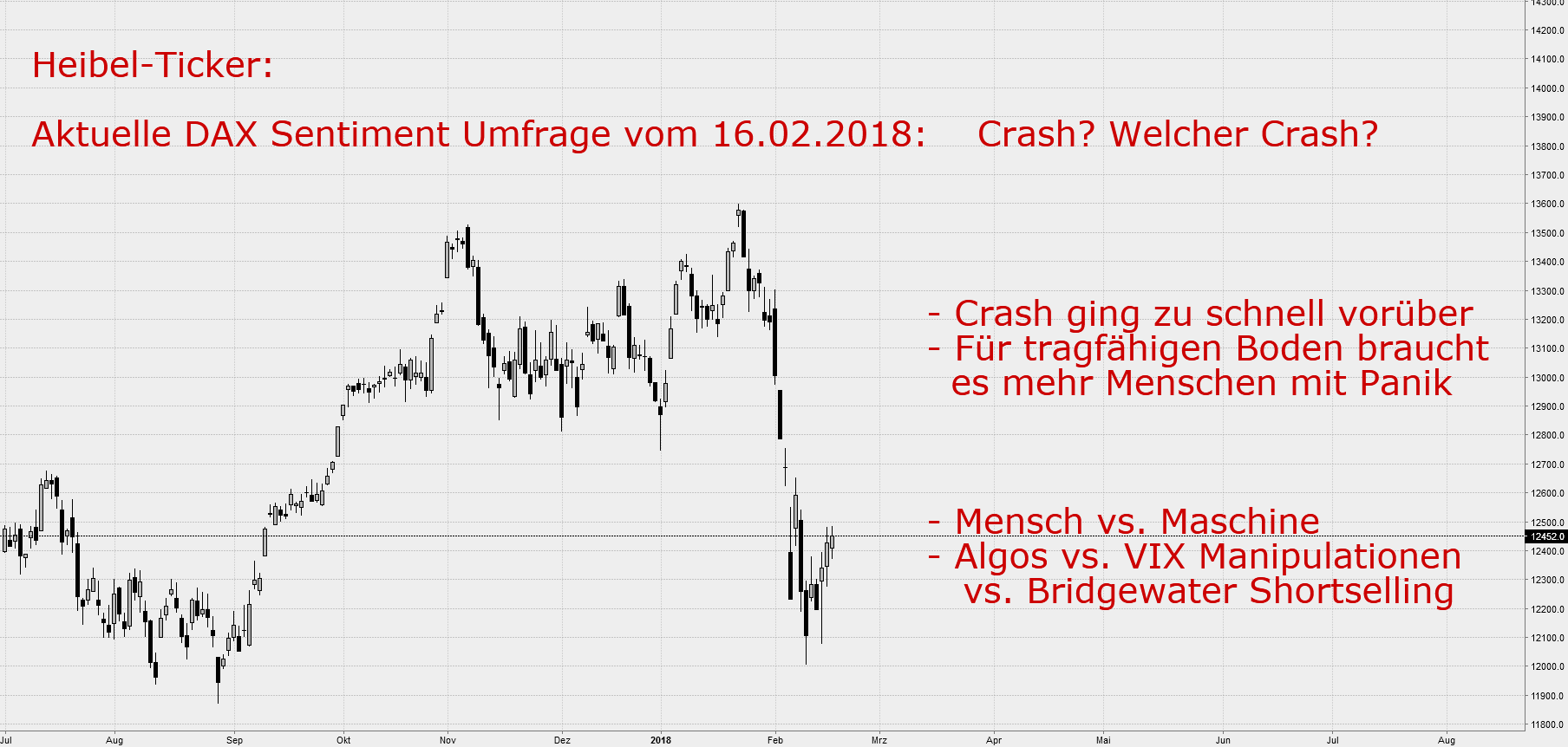 Aktuelle DAX Sentiment Umfrage: Crash? Welcher Crash?