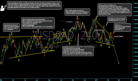USDCAD: Could this be it? My understanding of Wave Principle!