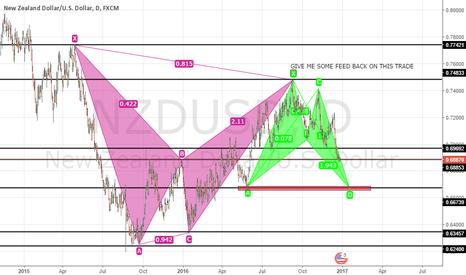NZDUSD: double harmonic pattern