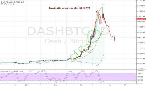 DASHBTC: DASHBTC - Perfect crash cycle. SHORT!