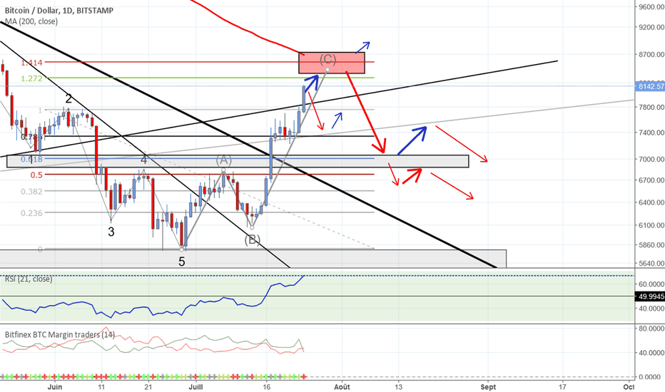 BTCUSD: To the moon ? Probablement pas...