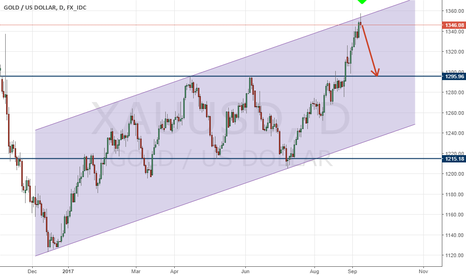 XAUUSD: We are expecting a correction for gold!