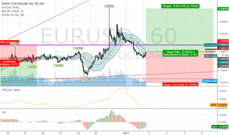 EURUSD: long EURUSD @ 1h @ trading capability for this 1st week `17