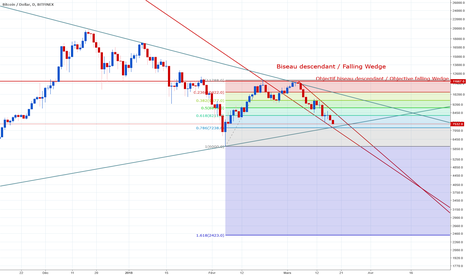 BTCUSD: Oblique Log and Falling Wedge and fibo