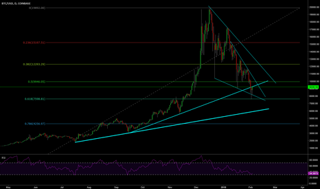 BTCUSD: Bottom of BTC on 0.618 FIB retracement. Is it the BOTTOM?